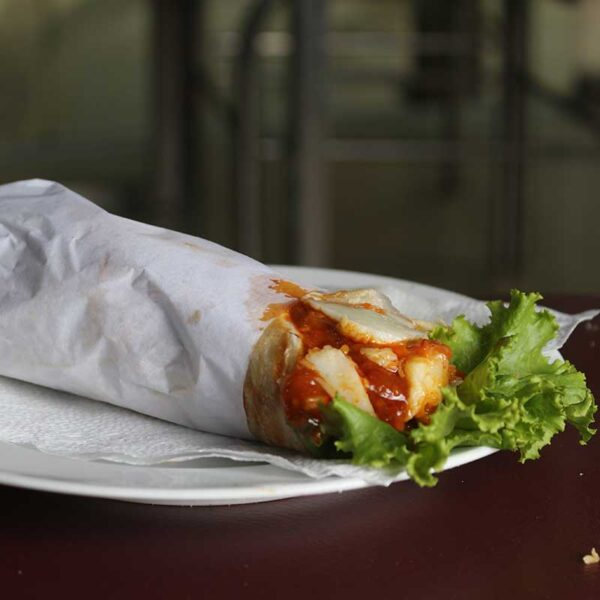 Spicy Wrap with Cheese